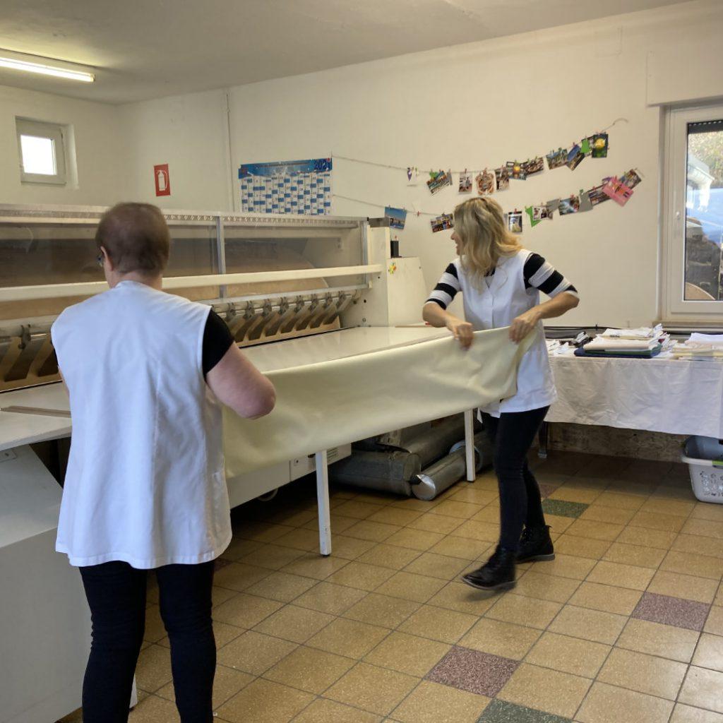 Wäscherei Piroth - Teamarbeit